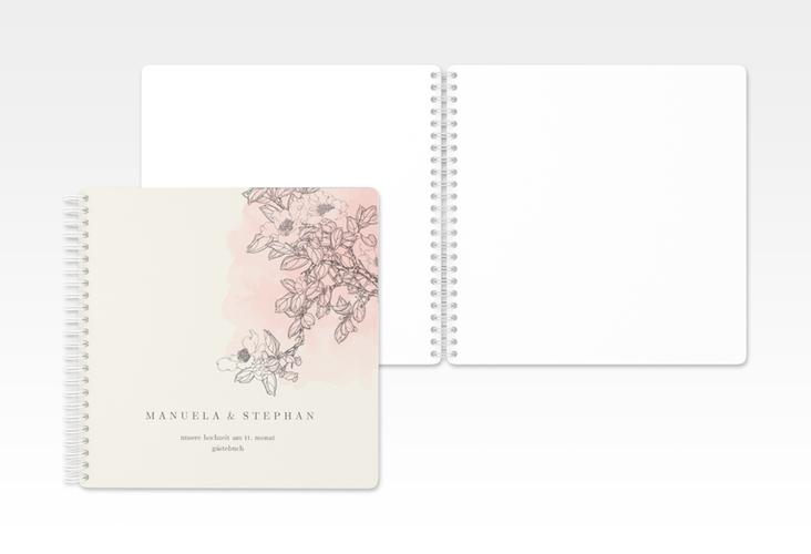 """Gästebuch Hochzeit """"Artlover"""" Ringbindung rosa"""