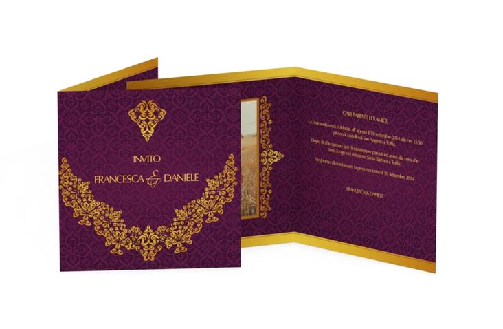 Inviti matrimonio collezione Istanbul Quadratische Klappkarte