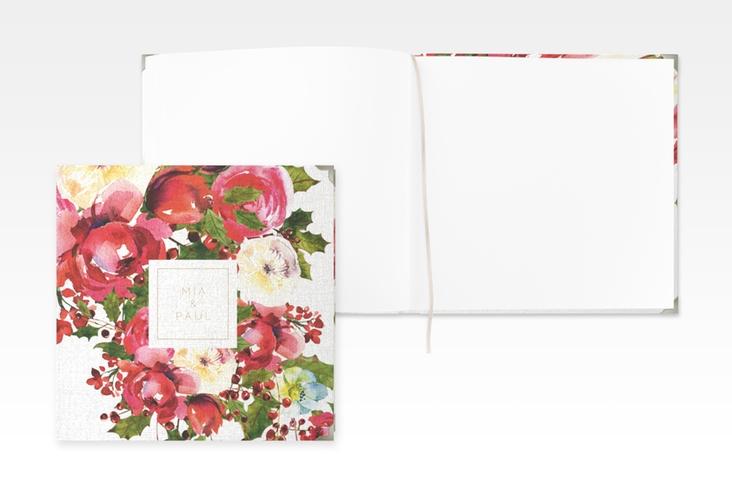 "Gästebuch Selection Hochzeit ""Blumenpracht"" Leinen-Hardcover weiss"