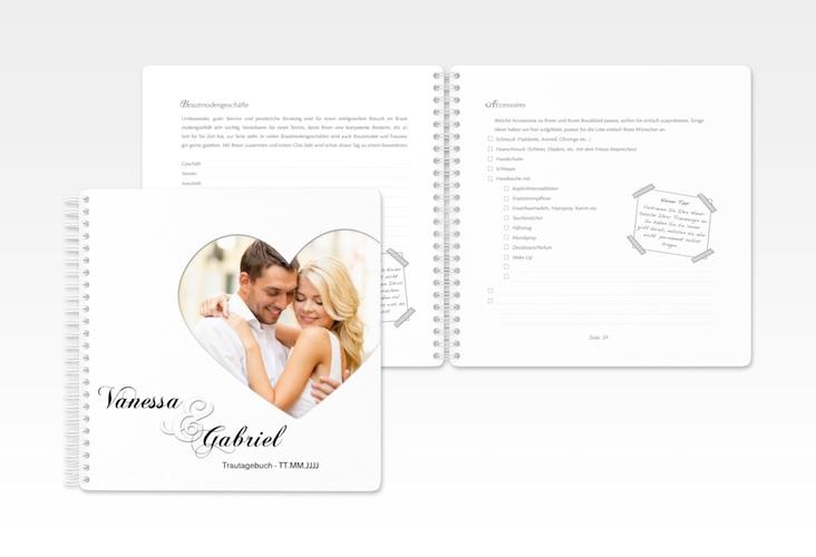 """Trautagebuch Hochzeit """"Sweetheart"""" Trautagebuch Hochzeit weiss"""