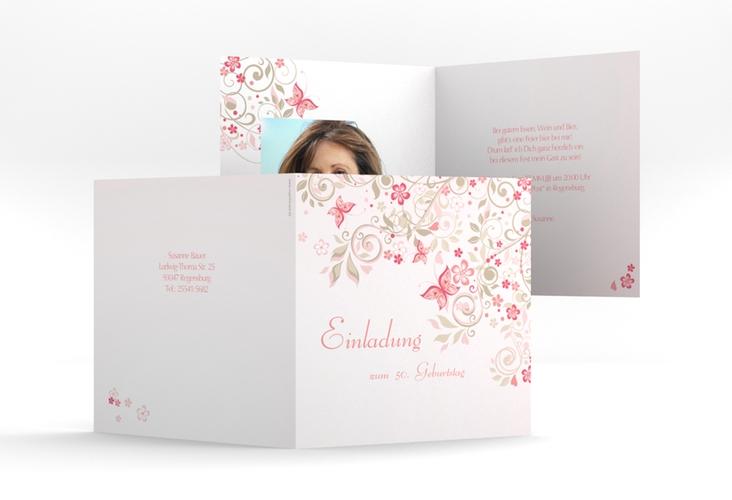 """Einladungskarte """"Marianne"""" Quadratische Klappkarte"""