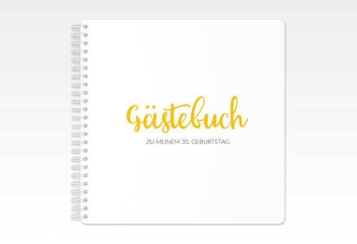 "Gästebuch Geburtstag ""Handwriting"" Ringbindung gelb"