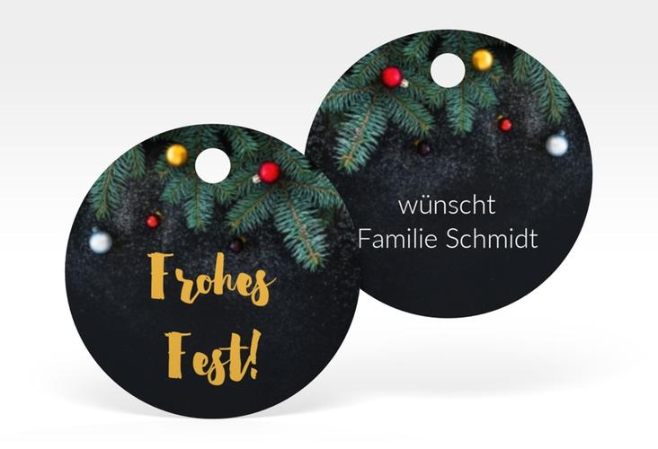 """Geschenkanhänger Weihnachten """"Weihnachtszauber"""" Geschenkanhänger, rund"""