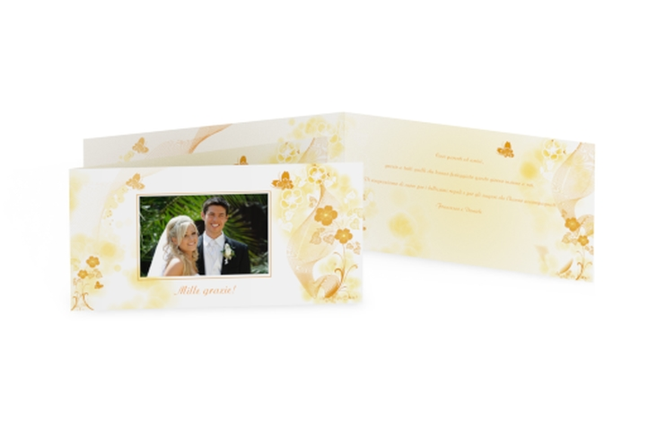Ringraziamenti matrimonio collezione Ravenna DIN lang Klappkarte