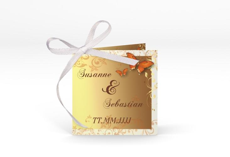 """Geschenkanhänger Hochzeit """"Toulouse"""" Geschenkanhänger 10er Set orange"""