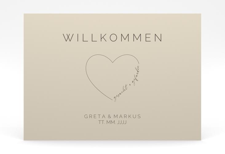 """Willkommensschild Poster """"Lebenstraum"""" 70 x 50 cm Poster"""