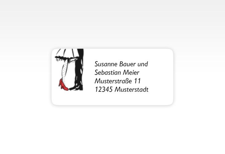 """Absenderetikett Hochzeit """"Straßburg"""" 45,7 x 21,2 mm rot"""