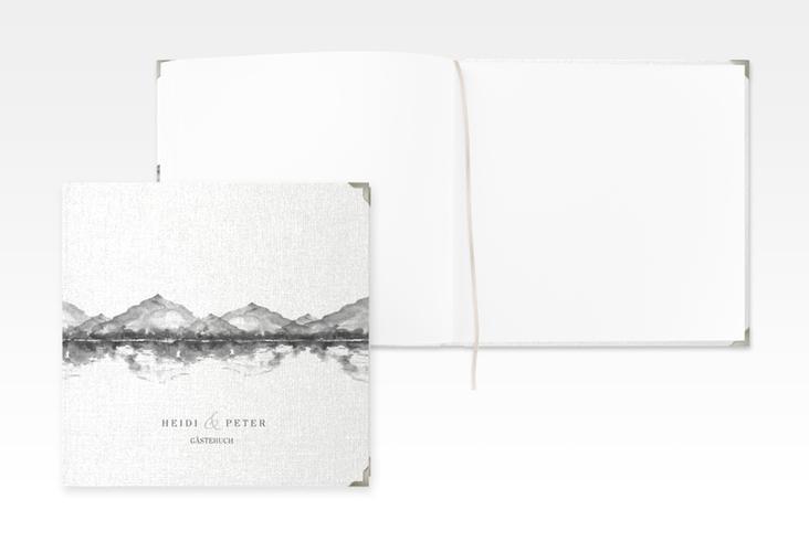 "Gästebuch Selection Hochzeit ""Bergliebe"" Leinen-Hardcover grau"