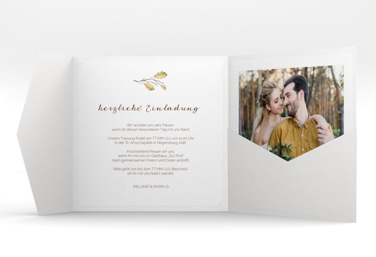 """Hochzeitseinladung """"Herbsthochzeit"""" Pocketfold"""