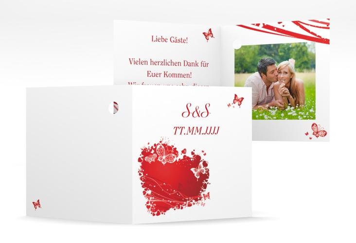 """Geschenkanhänger Hochzeit """"Mailand"""" Geschenkanhänger 10er Set rot"""