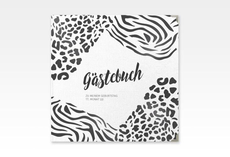 """Gästebuch Selection Geburtstag """"Wild"""" Leinen-Hardcover weiss"""
