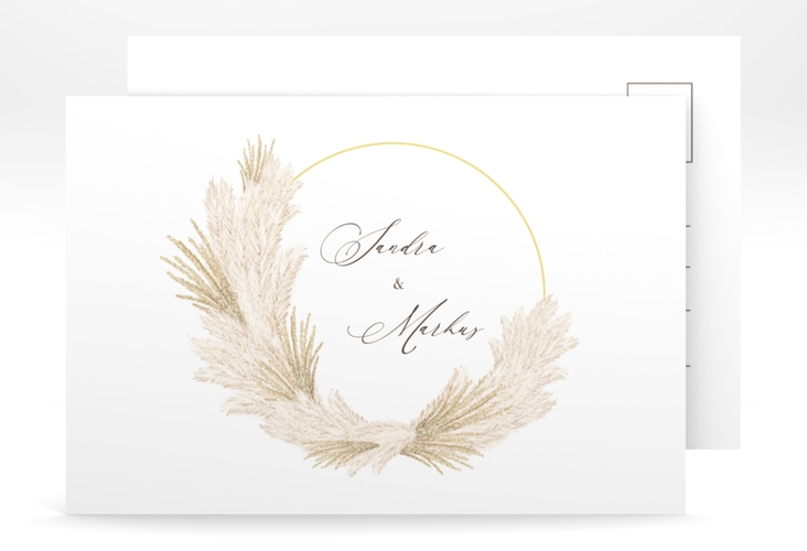 "Save the Date-Postkarte ""Pumila"" A6 Postkarte"