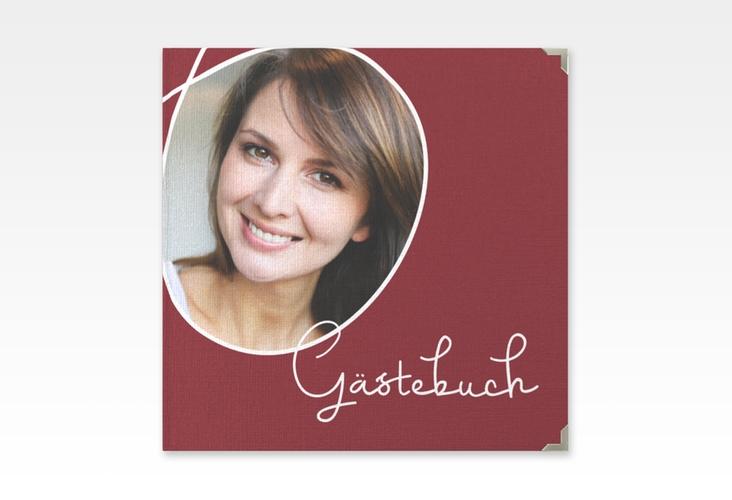 "Gästebuch Selection Geburtstag ""Swing"" Leinen-Hardcover rot"