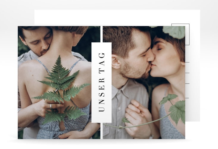 """Save the Date-Postkarte """"Klarheit"""" A6 Postkarte"""