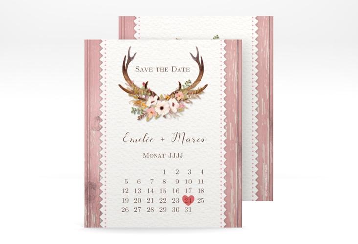 "Save the Date-Kalenderblatt ""Heimatjuwel"" Kalenderblatt-Karte"