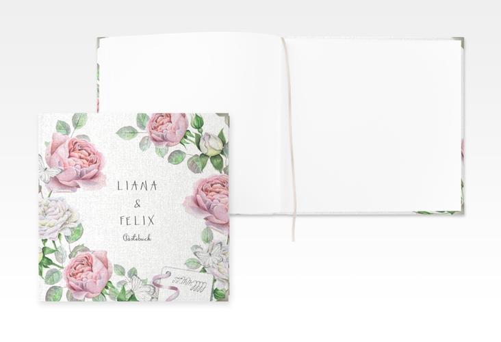 """Gästebuch Selection Hochzeit """"Primavera"""" Leinen-Hardcover weiss"""