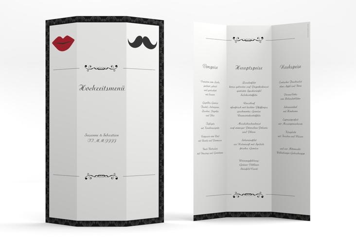 """Menükarte Hochzeit """"Montpellier"""" DIN A4 Wickelfalz"""