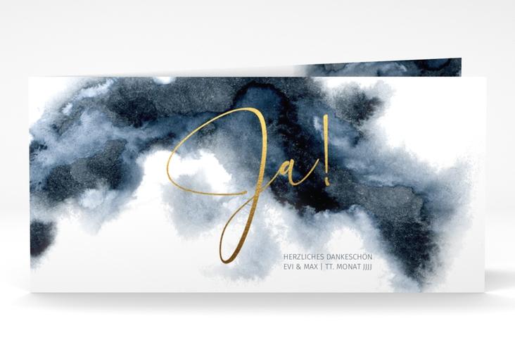"Danksagungskarte Hochzeit ""Aquarellic"" DIN lang Klappkarte"