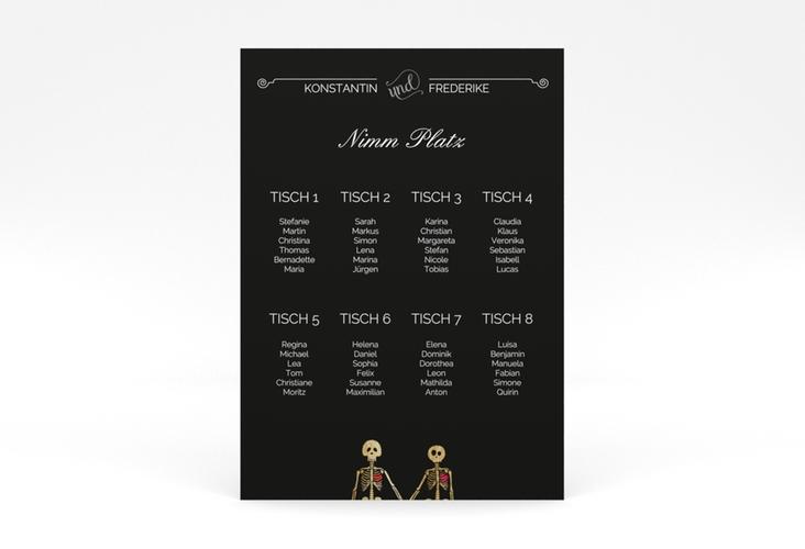 """Sitzplan Poster Hochzeit """"Bones"""" 50 x 70 cm Poster"""