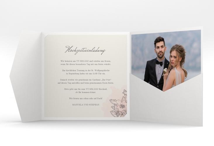 """Hochzeitseinladung """"Artlover"""" Pocketfold"""