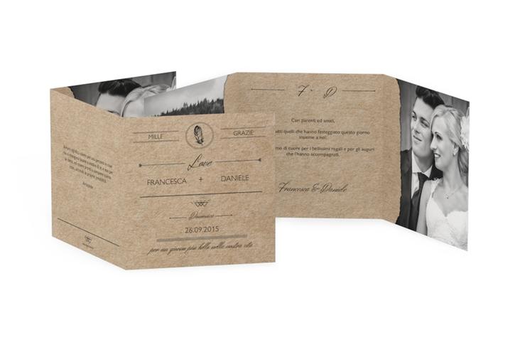 Ringraziamenti matrimonio collezione Colorado Quadr. Karte doppelt