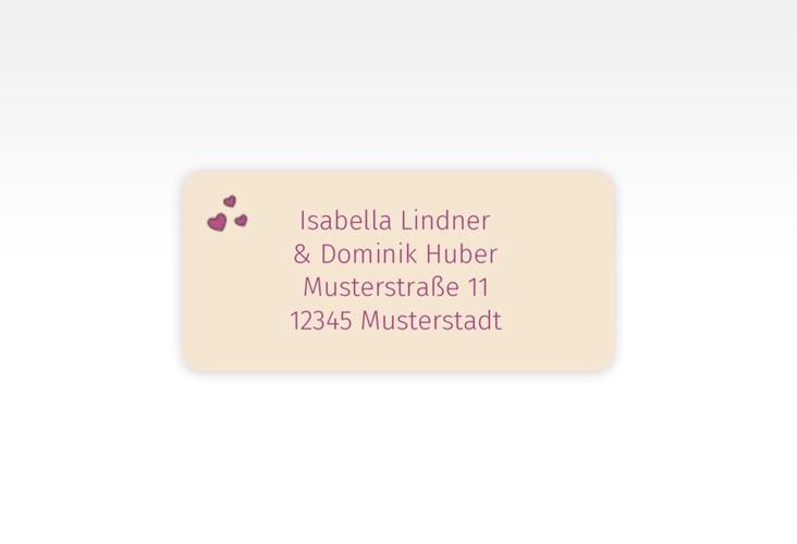 """Absenderetikett Hochzeit """"Eulenliebe"""" 45,7 x 21,2 mm"""