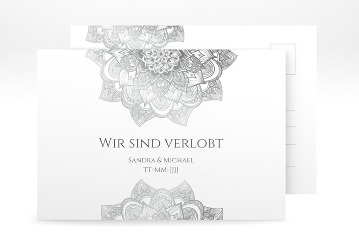 """Verlobungskarte Hochzeit """"Delight"""" A6 Postkarte grau"""