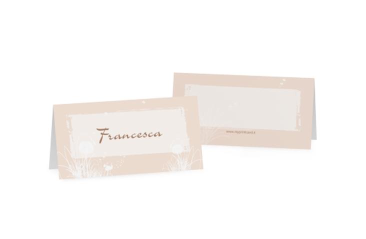 Segnaposti matrimonio collezione Murcia Tischkarten arancione