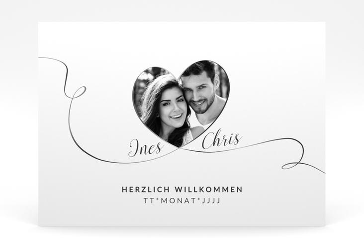 """Willkommensschild Poster """"Dolce"""" 70 x 50 cm Poster weiss"""