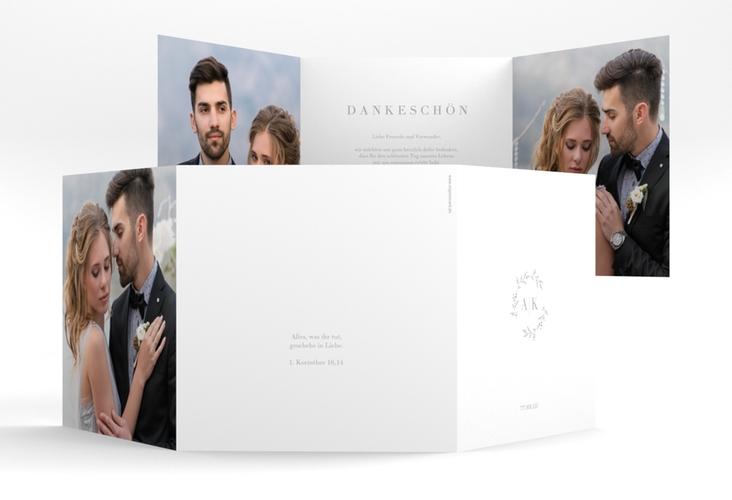 "Dankeskarte Hochzeit ""Filigrana"" Quadr. Karte doppelt"