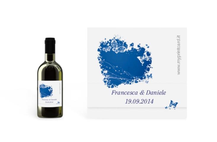 Etichette piccolo matrimonio collezione Milano Etikett Piccolo blu