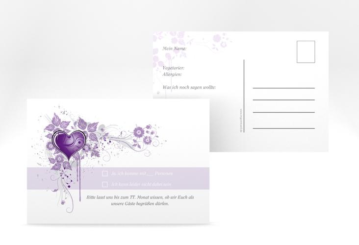 "Antwortkarte Hochzeit ""Triest"" A6 Postkarte"