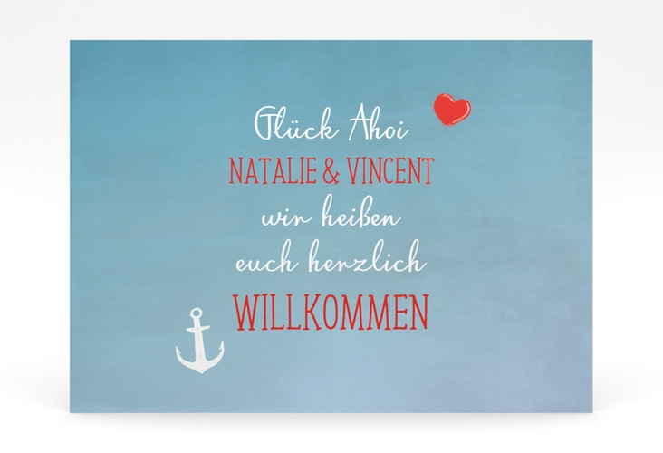 """Willkommensschild Poster """"Ehehafen"""" 70 x 50 cm Poster"""