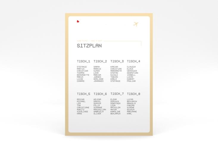 """Sitzplan Poster Hochzeit """"Weddingpass"""" 50 x 70 cm Poster beige"""