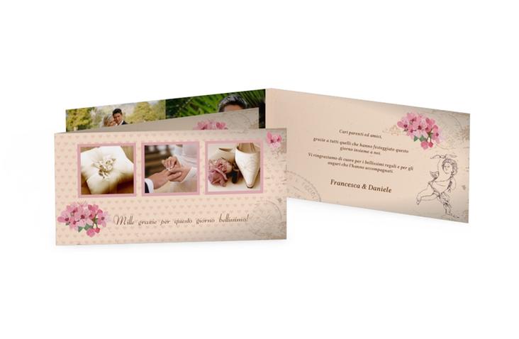 Ringraziamenti matrimonio collezione Chelles DIN lang Klappkarte