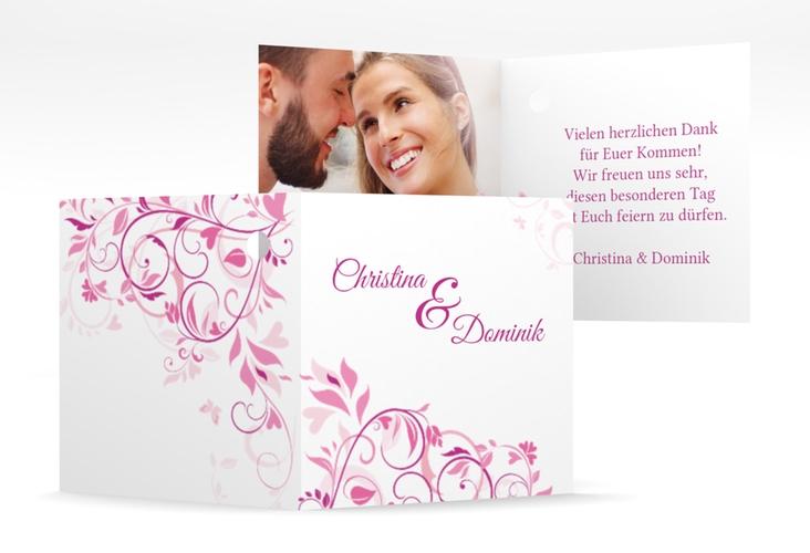 """Geschenkanhänger Hochzeit """"Lilly"""" Geschenkanhänger 10er Set pink"""
