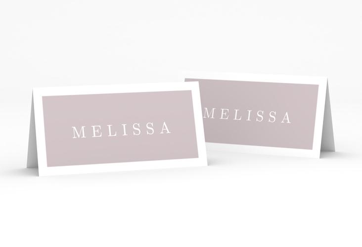 """Tischkarte Hochzeit """"Simply"""" Tischkarten grau"""