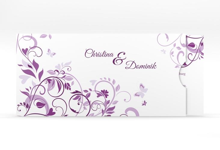 """Hochzeitseinladung """"Lilly"""" Einsteckkarte lila"""