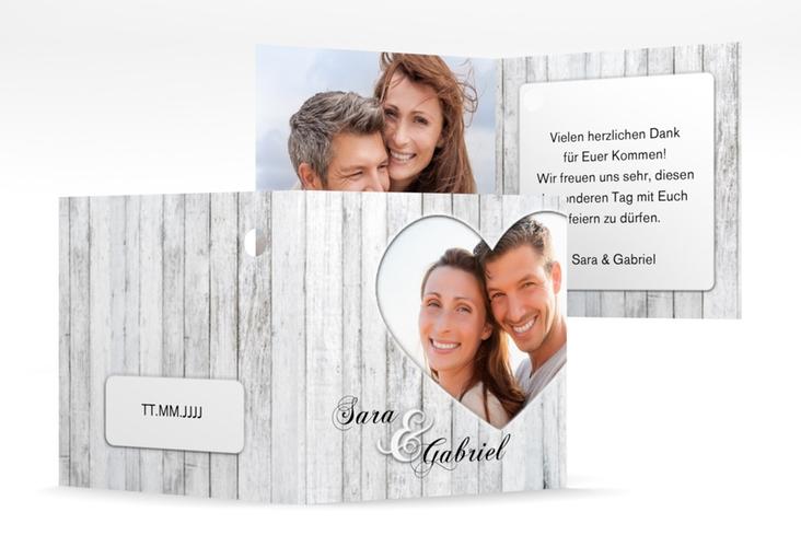 """Geschenkanhänger Hochzeit """"Herz"""" Geschenkanhänger 10er Set weiss"""