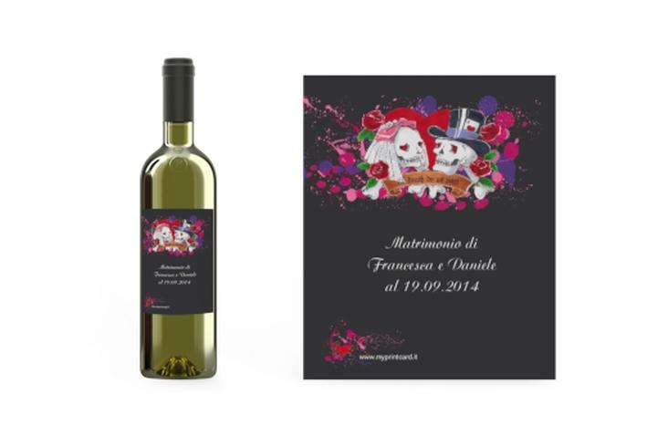 Etichette vino matrimonio collezione Palermo Etikett Weinflasche 4er Set