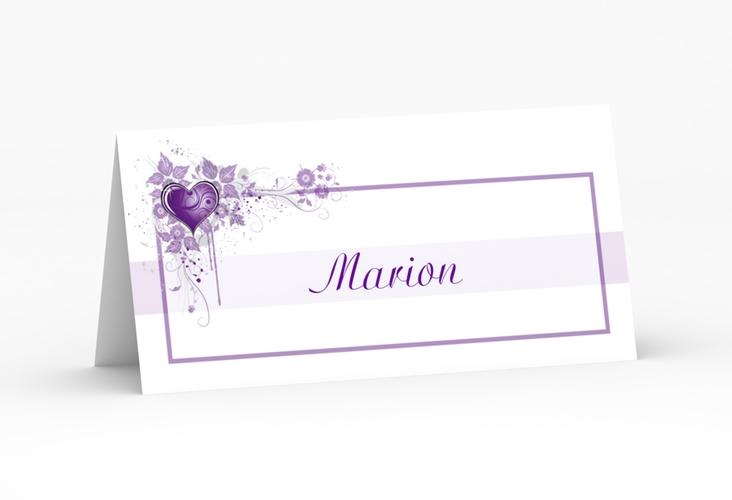 """Tischkarte Hochzeit """"Triest"""" Tischkarten lila"""