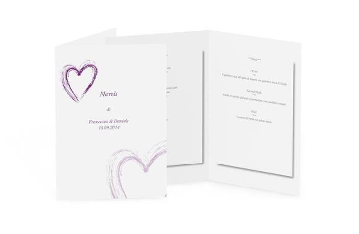 Menù matrimonio collezione Tolone DIN A5 geklappt lila