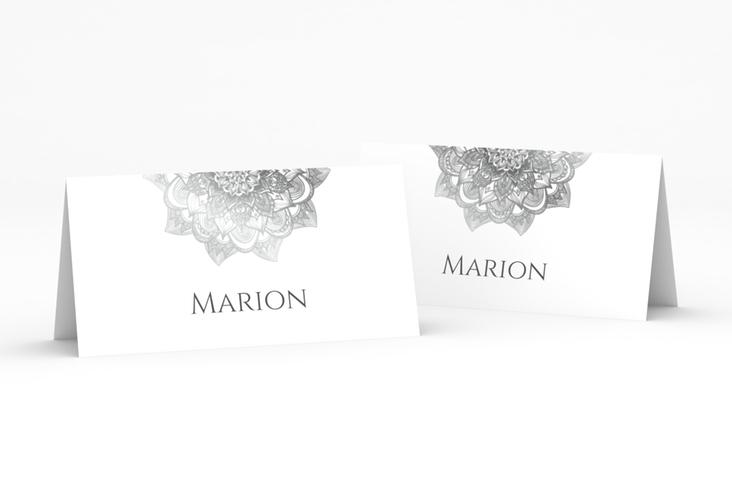 """Tischkarte Hochzeit """"Delight"""" Tischkarten grau"""