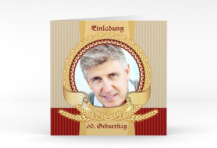 """Einladungskarte """"Franz"""" Quadratische Klappkarte"""