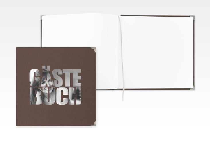 """Gästebuch Selection Geburtstag """"Jahreszahl"""" Leinen-Hardcover braun"""