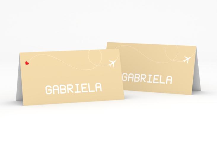 """Tischkarte Hochzeit """"Weddingpass"""" Tischkarten beige"""