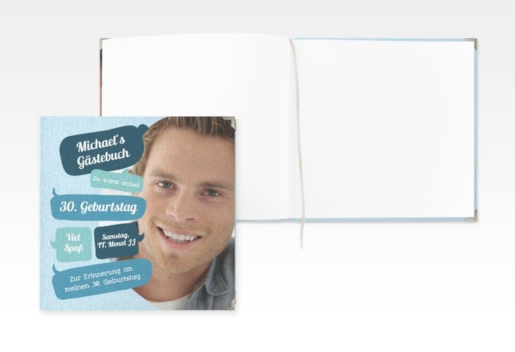 "Gästebuch Selection Geburtstag ""Whatsup"" Hardcover blau"