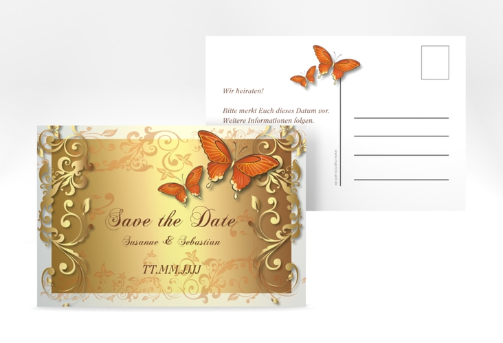 "Save the Date-Postkarte ""Toulouse"" A6 Postkarte orange"