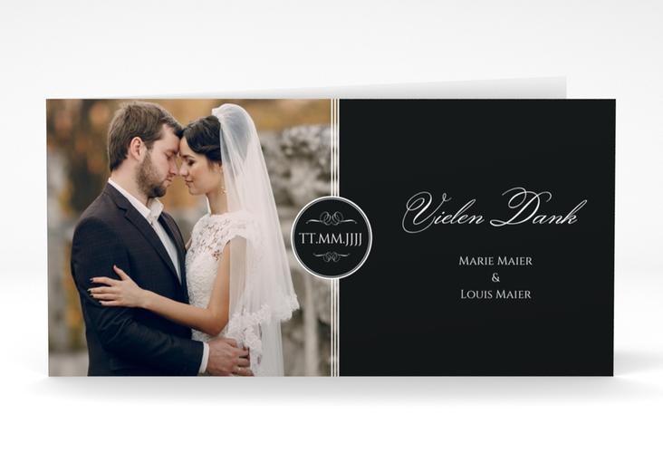 "Dankeskarte Hochzeit ""Elegancy"" DIN lang Klappkarte"