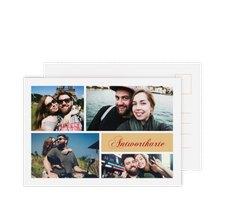 """Antwortkarte Hochzeit """"Collage"""""""